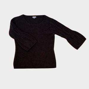 ☃️J. Jill Brown Heavy 3/4 Sleeve Sweater - XS